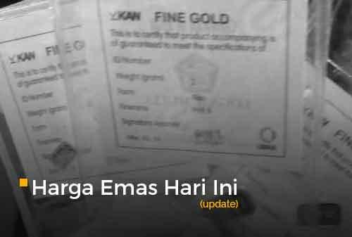 Harga Emas Hari Ini 29 Juli 2020 adalah Rp 1.013.000 per gram