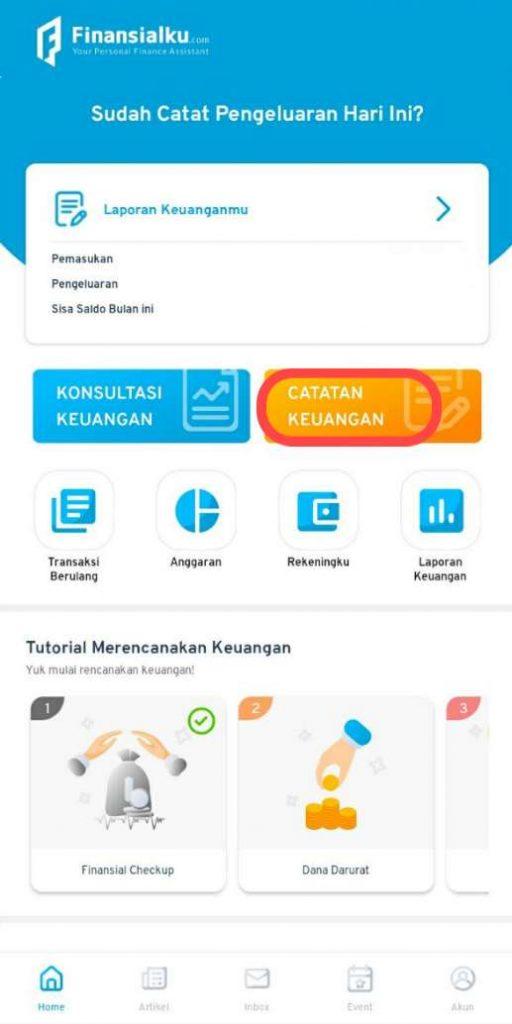 Catatan Keuangan Aplikasi Finansialku