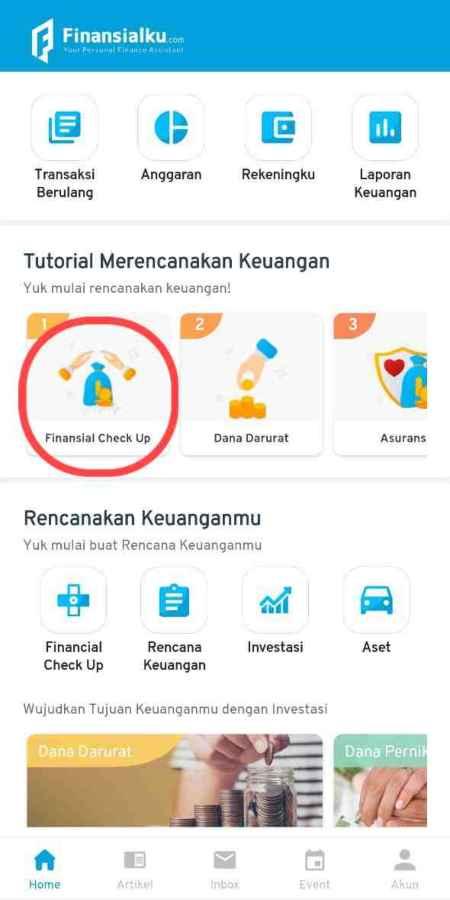 Fitur Financial Health Check Up Aplikasi Finansialku