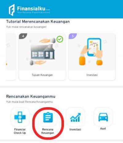 Fitur Rencana Keuangan Aplikasi Finansialku