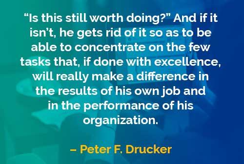 Kata-kata Bijak Peter Drucker: Layak Dilakukan?