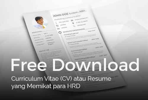 Download Template CV (Curriculum Vitae) Gratis Terbaru 2020