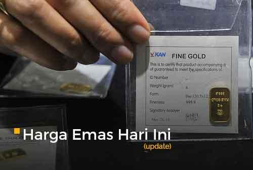 Harga Emas Hari Ini 15 September 2020 adalah Rp 1.037.000 per gram