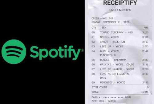 Viral! Ini Cara Bikin Receiptify, Struk Lagu Favorit Spotify Kamu