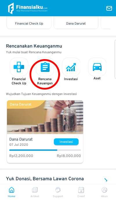 Rencana Keuangan Aplikasi Finansialku