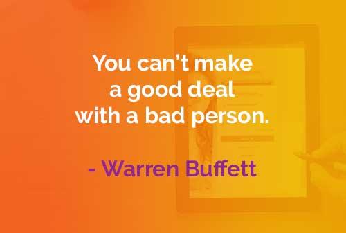 Kata-kata Bijak Warren Buffett: Kesepakatan yang Bagus