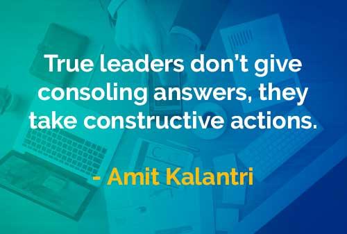 Kata-kata Bijak Amit Kalantri: Pemimpin yang Sesungguhnya