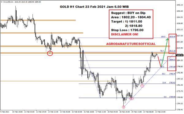 Pergerakan Harga Crude Oil, Emas dan Forex Hari Ini 23 Februari 2021 05 - Finansialku
