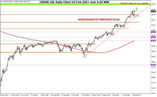 Pergerakan Harga Crude Oil, Emas dan Forex Hari Ini 23 Februari 2021 01 - Finansialku